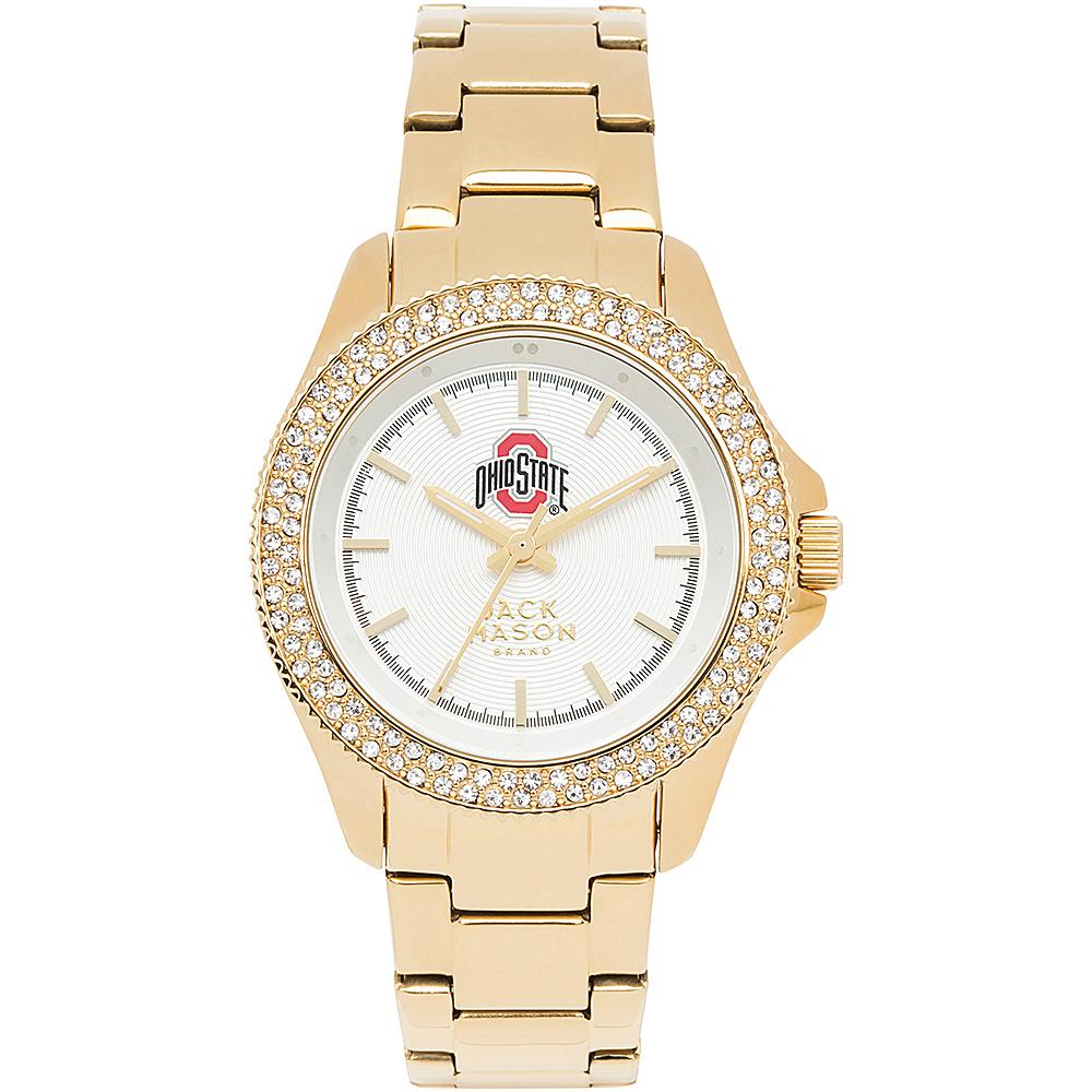Jack Mason League NCAA Gold Glitz Womens Watch Ohio State Buckeyes - Jack Mason League Watches - Fashion Accessories, Watches