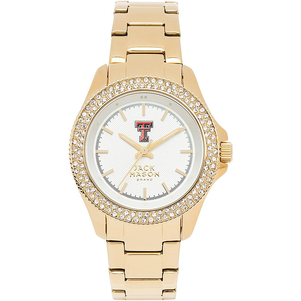 Jack Mason League NCAA Gold Glitz Womens Watch Texas Tech Red Raiders - Jack Mason League Watches - Fashion Accessories, Watches