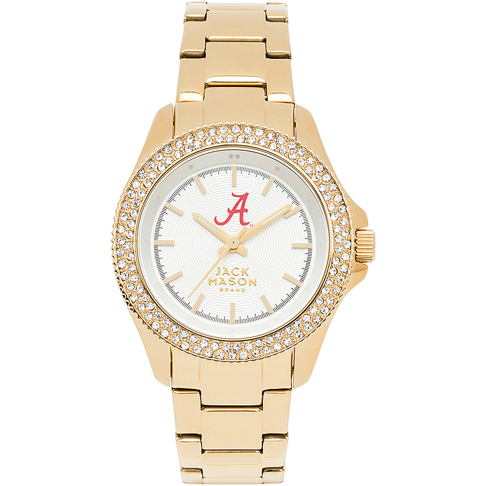 Jack Mason League NCAA Gold Glitz Womens Watch Alabama Crimson Tide - Jack Mason League Watches - Fashion Accessories, Watches
