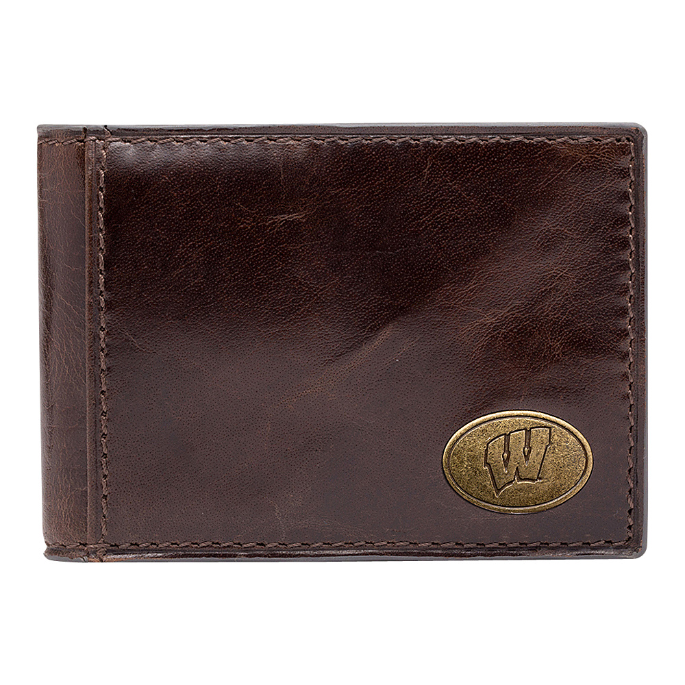 Jack Mason League NCAA Legacy Slim Bifold Wisconsin Badgers - Jack Mason League Mens Wallets - Work Bags & Briefcases, Men's Wallets