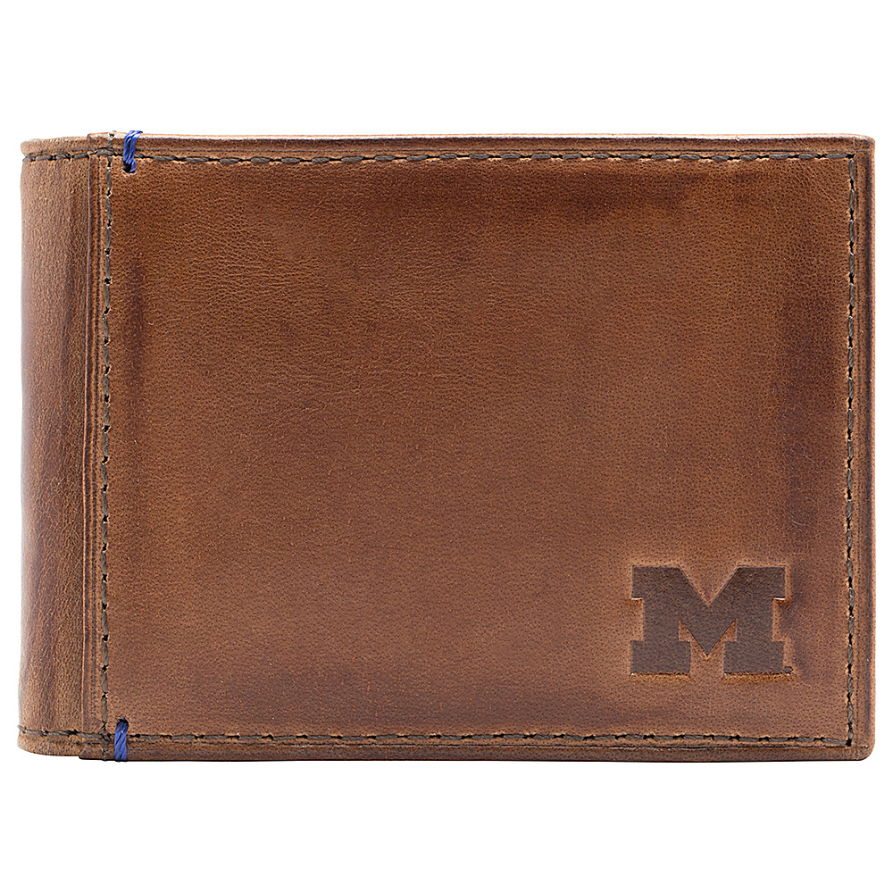 Jack Mason League NCAA Campus Slim Bifold Michigan Wolverines - Jack Mason League Mens Wallets - Work Bags & Briefcases, Men's Wallets