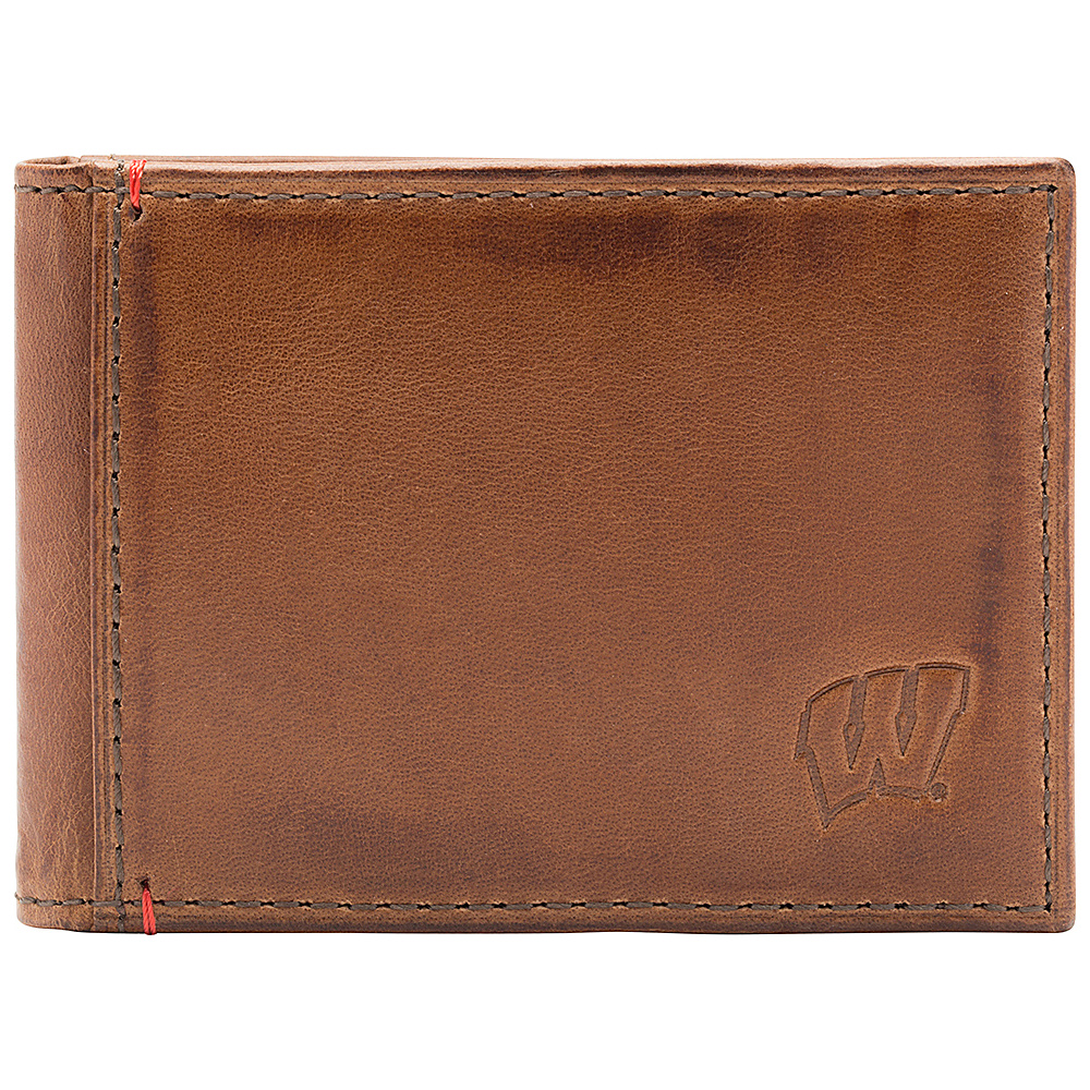 Jack Mason League NCAA Campus Slim Bifold Wisconsin Badgers - Jack Mason League Mens Wallets - Work Bags & Briefcases, Men's Wallets