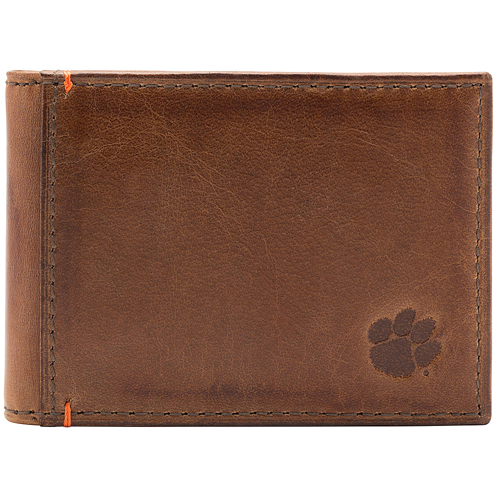 Jack Mason League NCAA Campus Slim Bifold Clemson Tigers - Jack Mason League Mens Wallets - Work Bags & Briefcases, Men's Wallets