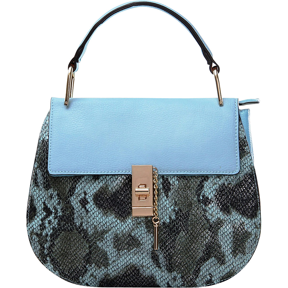 MKF Collection by Mia K. Farrow Python Charlie Crossbody Light Blue - MKF Collection by Mia K. Farrow Manmade Handbags - Handbags, Manmade Handbags