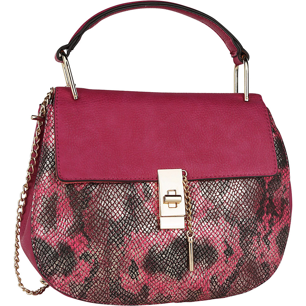 MKF Collection by Mia K. Farrow Python Charlie Crossbody Pink - MKF Collection by Mia K. Farrow Manmade Handbags - Handbags, Manmade Handbags