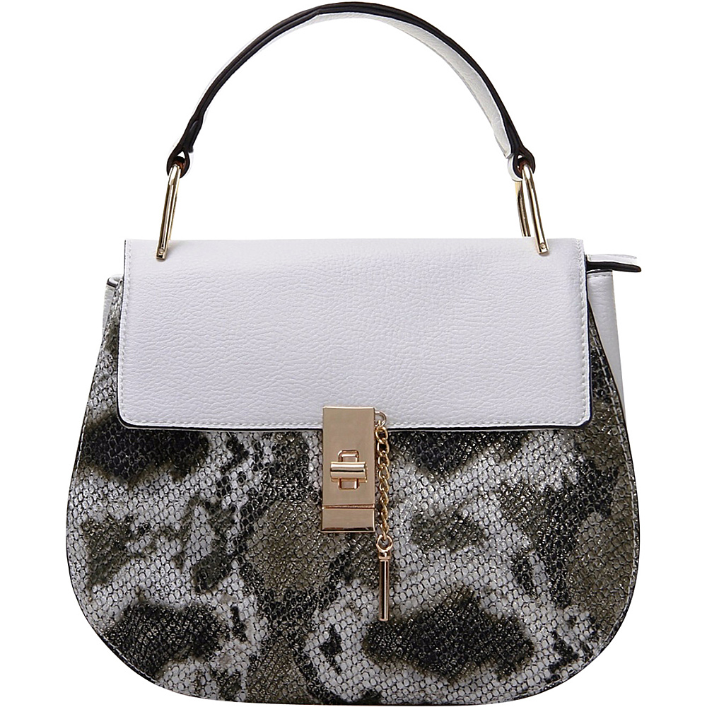 MKF Collection by Mia K. Farrow Python Charlie Crossbody White - MKF Collection by Mia K. Farrow Manmade Handbags - Handbags, Manmade Handbags