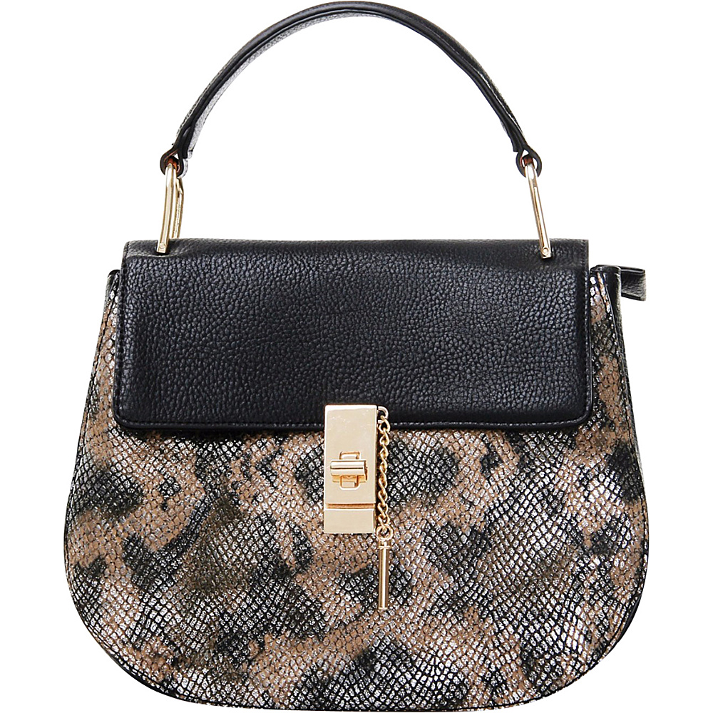 MKF Collection by Mia K. Farrow Python Charlie Crossbody Black - MKF Collection by Mia K. Farrow Manmade Handbags - Handbags, Manmade Handbags
