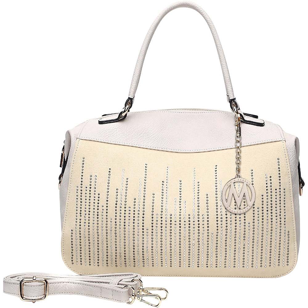 MKF Collection by Mia K. Farrow Zaya Satchel Beige - MKF Collection by Mia K. Farrow Manmade Handbags - Handbags, Manmade Handbags