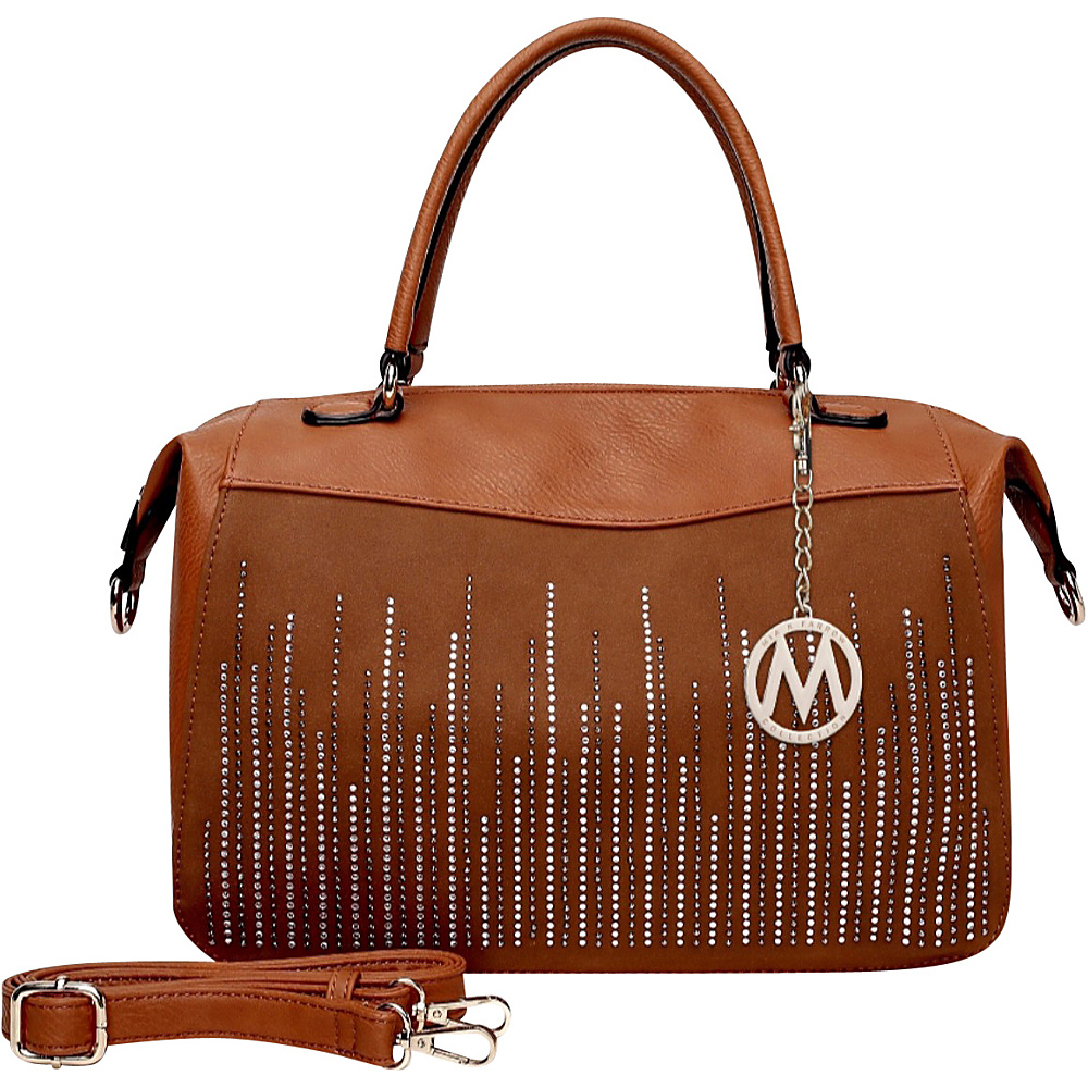 MKF Collection by Mia K. Farrow Zaya Satchel Brown - MKF Collection by Mia K. Farrow Manmade Handbags - Handbags, Manmade Handbags