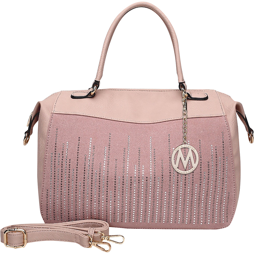 MKF Collection by Mia K. Farrow Zaya Satchel Light Pink - MKF Collection by Mia K. Farrow Manmade Handbags - Handbags, Manmade Handbags
