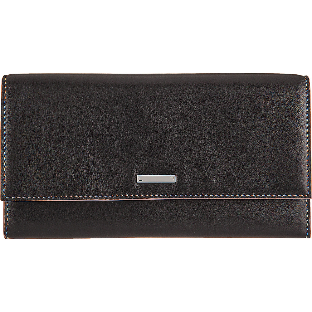 Lodis Mill Valley Under Lock & Key Cami Clutch Wallet Black - Lodis Designer Handbags - Handbags, Designer Handbags