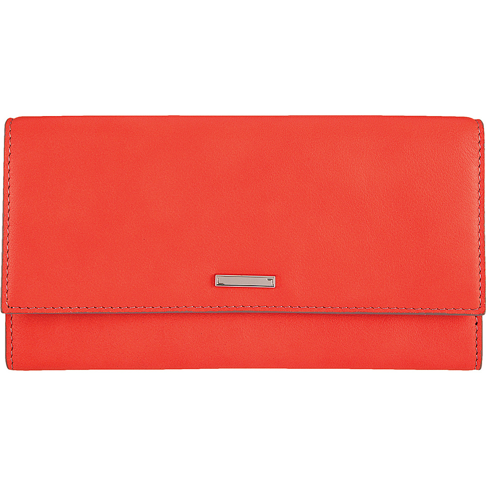 Lodis Mill Valley Under Lock & Key Cami Clutch Wallet Coral - Lodis Designer Handbags - Handbags, Designer Handbags