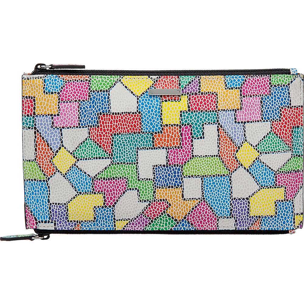 Lodis Zaragoza Lani Double Zip Pouch Multi - Lodis Womens Wallets - Women's SLG, Women's Wallets