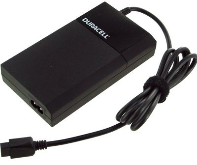 Duracell Slim Universal Laptop Adapter with 2.4 Amp USB, 90 Watt Black - Duracell Travel Electronics