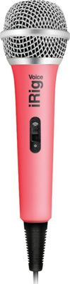 IK Multimedia iRig Voice Handheld Microphone for Smartphone/Tablet Pink - IK Multimedia Electronic Accessories