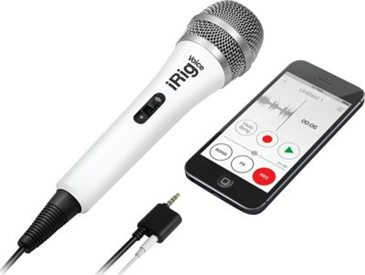 IK Multimedia iRig Voice Handheld Microphone for Smartphone/Tablet White - IK Multimedia Electronic Accessories