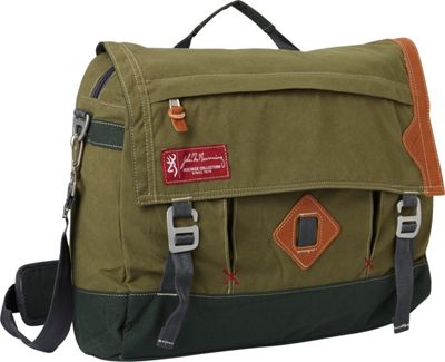Browning Boone Messenger Bag Green - Browning Messenger Bags