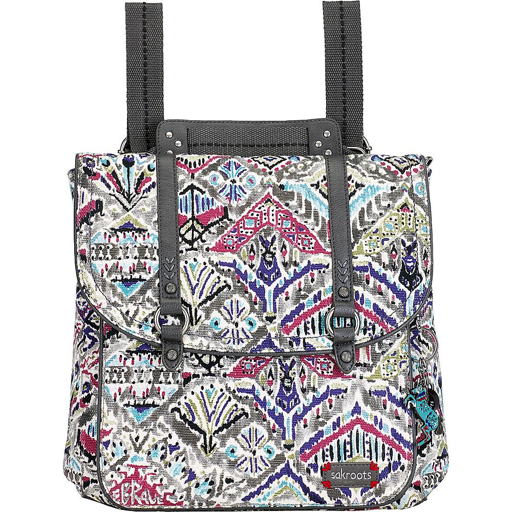 Sakroots Artist Circle Convertible Backpack- Seasonal Colors Slate Brave Beauti - Sakroots Fabric Handbags