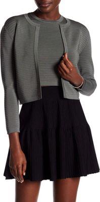 Rolo & Ale Maye Wool Cropped Cardigan L - Slate - Rolo & Ale Women's Apparel