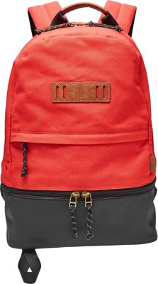 Fossil Summit Backpack Red - Fossil Laptop Backpacks