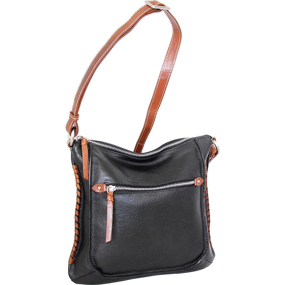 Nino Bossi Carrie Crossbody Black - Nino Bossi Leather Handbags - Handbags, Leather Handbags