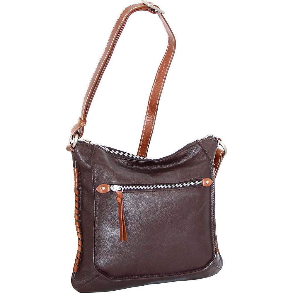 Nino Bossi Carrie Crossbody Chocolate - Nino Bossi Leather Handbags - Handbags, Leather Handbags