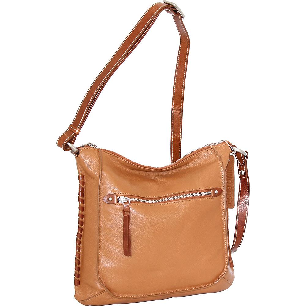 Nino Bossi Carrie Crossbody Cognac - Nino Bossi Leather Handbags - Handbags, Leather Handbags