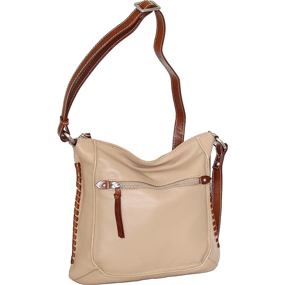 Nino Bossi Carrie Crossbody Sand - Nino Bossi Leather Handbags - Handbags, Leather Handbags