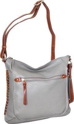 Nino Bossi Carrie Crossbody Stone - Nino Bossi Leather Handbags