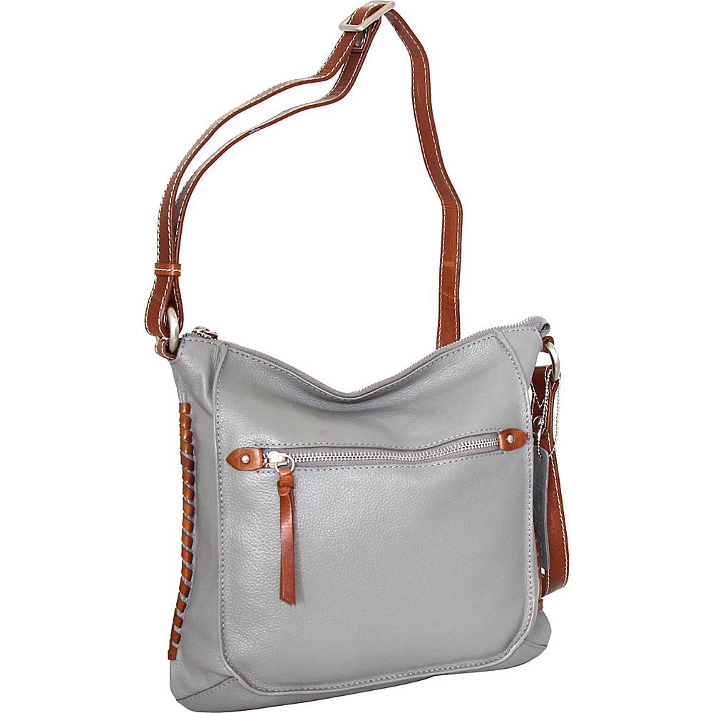 Nino Bossi Carrie Crossbody Stone - Nino Bossi Leather Handbags - Handbags, Leather Handbags