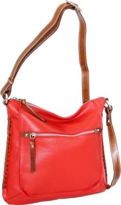 Nino Bossi Carrie Crossbody Tomato - Nino Bossi Leather Handbags