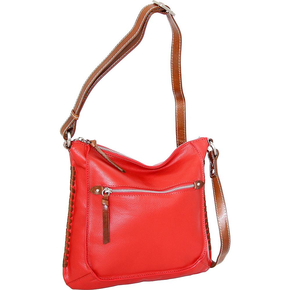 Nino Bossi Carrie Crossbody Tomato - Nino Bossi Leather Handbags - Handbags, Leather Handbags