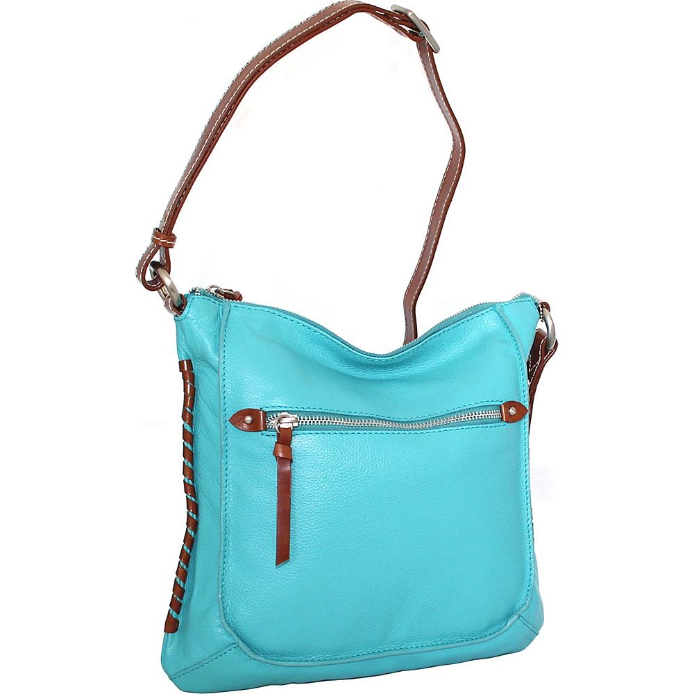 Nino Bossi Carrie Crossbody Turquoise - Nino Bossi Leather Handbags - Handbags, Leather Handbags
