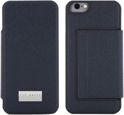 Ted Baker Aires iPhone 6 & 7 Folio Case with Card Slot Navy - Ted Baker Electronic Cases
