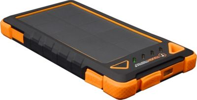 ToughTested Solar Power Bank 8,000mAh with Flashlight Black/Orange - ToughTested Portable Batteries & Chargers