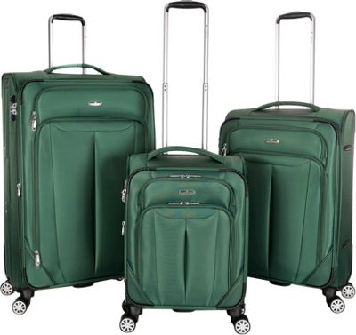 Gabbiano Toscana 3 Piece Expandable Softside Spinner Luggage Set Ocean Green - Gabbiano Luggage Sets