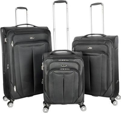 Gabbiano Toscana 3 Piece Expandable Softside Spinner Luggage Set Charcoal - Gabbiano Luggage Sets