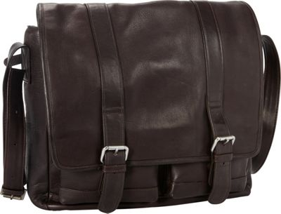 Petersons Business 15 inch Laptop Messenger Brown - Petersons Messenger Bags