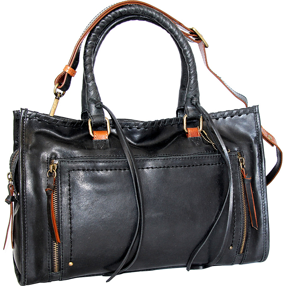 Nino Bossi Alanis Satchel Black - Nino Bossi Leather Handbags - Handbags, Leather Handbags