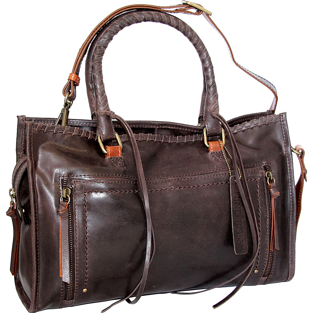 Nino Bossi Alanis Satchel Chocolate - Nino Bossi Leather Handbags - Handbags, Leather Handbags