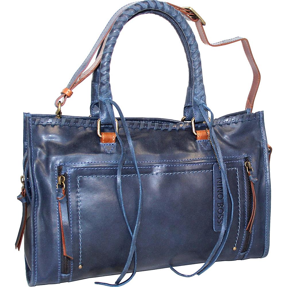 Nino Bossi Alanis Satchel Denim - Nino Bossi Leather Handbags - Handbags, Leather Handbags