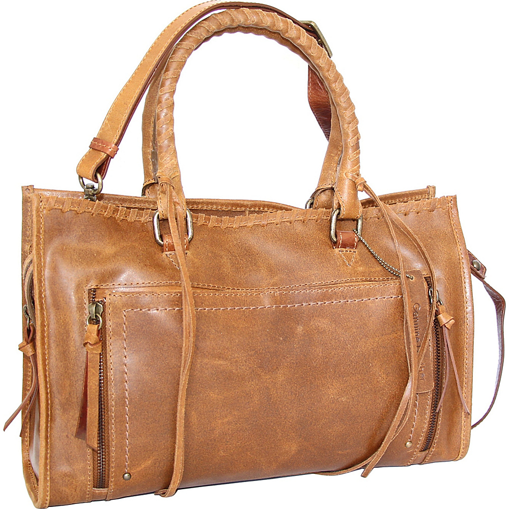 Nino Bossi Alanis Satchel Saddle - Nino Bossi Leather Handbags - Handbags, Leather Handbags