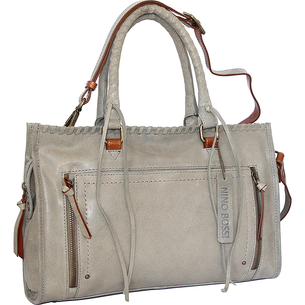 Nino Bossi Alanis Satchel Stone - Nino Bossi Leather Handbags - Handbags, Leather Handbags