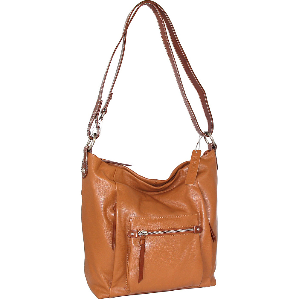 Nino Bossi Mariel Shoulder Bag Cognac - Nino Bossi Leather Handbags - Handbags, Leather Handbags