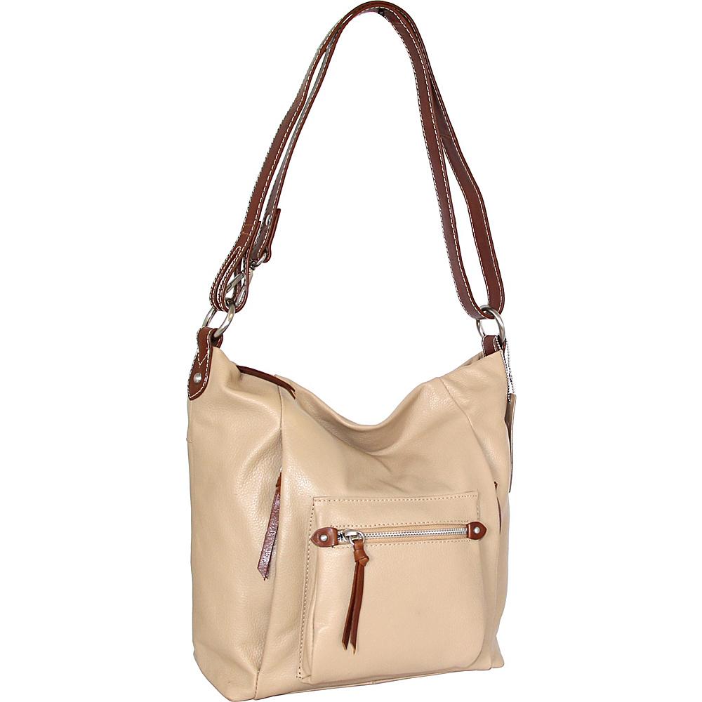 Nino Bossi Mariel Shoulder Bag Sand - Nino Bossi Leather Handbags - Handbags, Leather Handbags