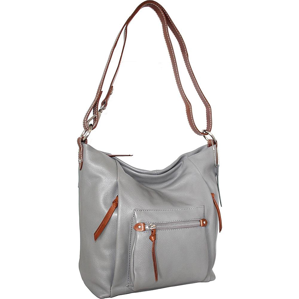 Nino Bossi Mariel Shoulder Bag Stone - Nino Bossi Leather Handbags - Handbags, Leather Handbags