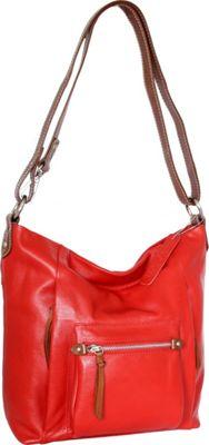 Nino Bossi Mariel Shoulder Bag Tomato - Nino Bossi Leather Handbags