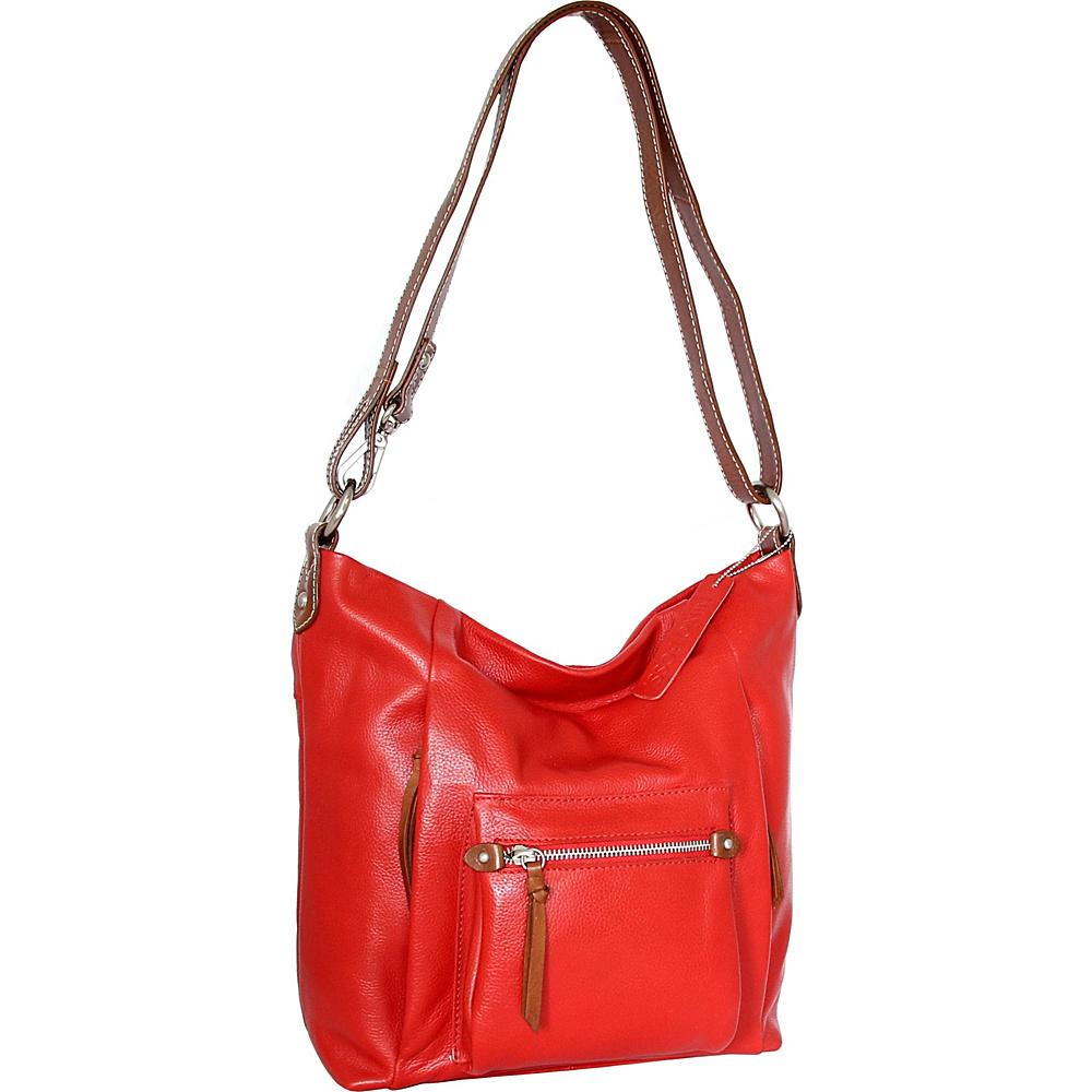 Nino Bossi Mariel Shoulder Bag Tomato - Nino Bossi Leather Handbags - Handbags, Leather Handbags