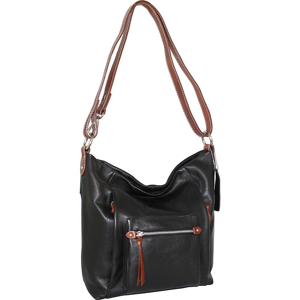 Nino Bossi Mariel Shoulder Bag Black - Nino Bossi Leather Handbags - Handbags, Leather Handbags
