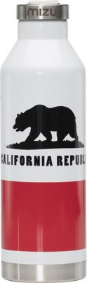 Mizu Inc V8 Water Bottle with Steel Cap Califorina Flag - Mizu Inc Hydration Packs and Bottles